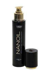 Nanoil hair oil for high porosity hair